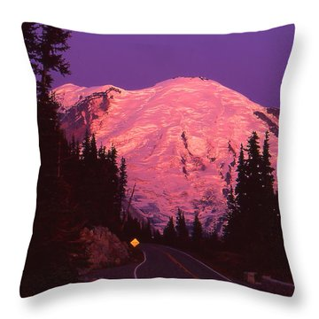 Highway To Sunrise Throw Pillow
