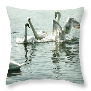 I Think He Means It..... This Time........ Throw Pillow by Martina Fagan
