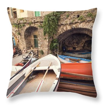 Il Porto Barca Throw Pillow
