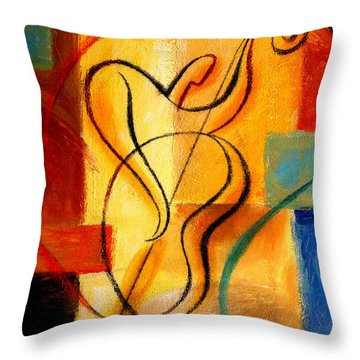 Jazz Fusion Throw Pillow