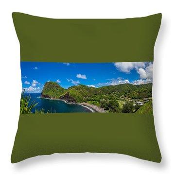 Kahakuloa Head Maui Hawaii Throw Pillow