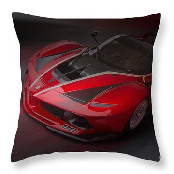 La Ferrari Fxx K Throw Pillow