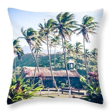 Throw Pillow featuring the photograph  Lanakila 'ihi'ihi O Iehowa O Na Kaua Church Keanae Maui Hawaii by Sharon Mau