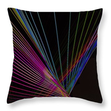 Laser Abstract Throw Pillow