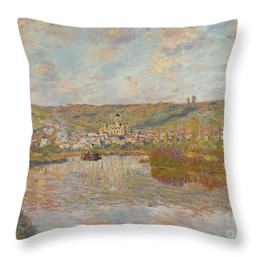 Late Afternoon Vetheuil Throw Pillow