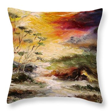 Light Comes Throw Pillow by Rushan Ruzaick