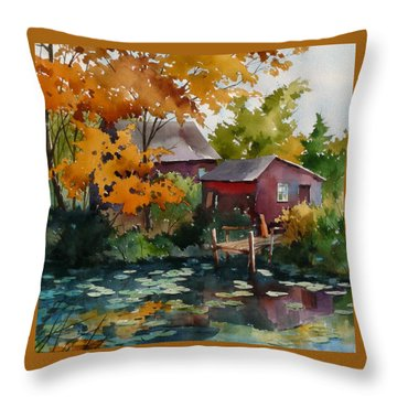 Lily Pond Throw Pillow by Art Scholz