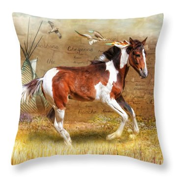 Throw Pillow featuring the digital art  Little Apache by Trudi Simmonds