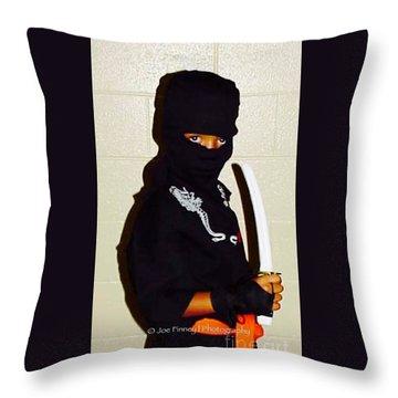 Throw Pillow featuring the photograph  Little Ninja - No.1998 by Joe Finney