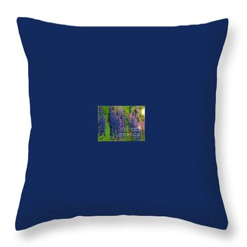 Lois Love Of Lupine Throw Pillow by FeatherStone Studio Julie A Miller