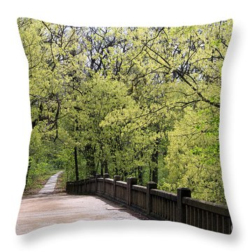 Matthiessen State Park In Spring Throw Pillow