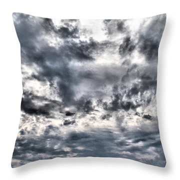 Throw Pillow featuring the photograph  Mental Seaview by Jouko Lehto