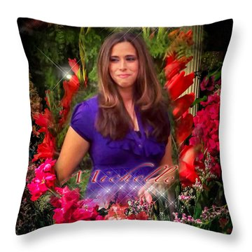 Michelle - Heaven's Birthday Angel Throw Pillow