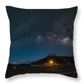 Milky Way Over Haleakala Throw Pillow