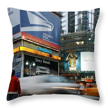 -money Sex And Speed Throw Pillow