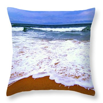 Throw Pillow featuring the photograph  Montauk 1 by Cindy Greenstein