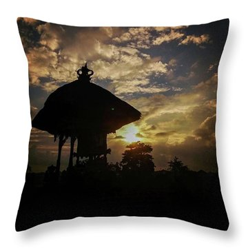 Balinese Temple Throw Pillow