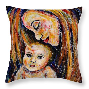 Mother's Love Throw Pillow by Natalie Holland