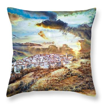 Moving Clouds Throw Pillow