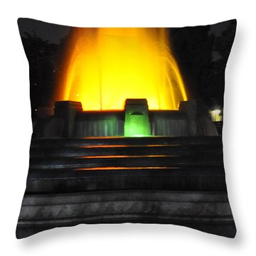 Mulholland Fountain Reflection Throw Pillow