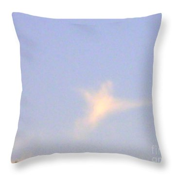 Natural Dove Cloud Throw Pillow