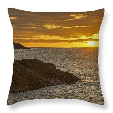 Ninini Point Lighthouse Sunrise Throw Pillow