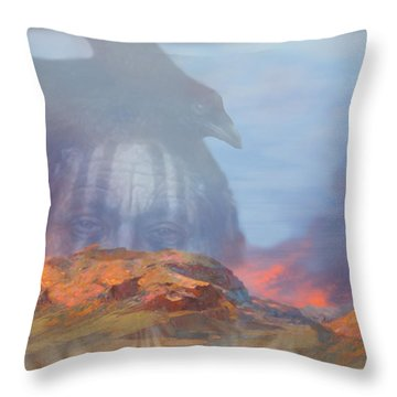 ' Old Fire Eyes Returns ' Throw Pillow