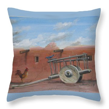 Old Spanish Cart  Throw Pillow