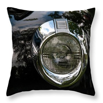 Throw Pillow featuring the photograph  One Eye 13128 by Guy Whiteley