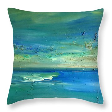 Pearls Of Tranquility Seascape 1 Throw Pillow by Dolores  Deal