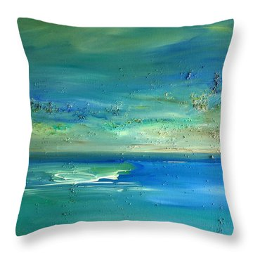 Pearls Of Tranquility Seascape 1 Throw Pillow