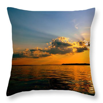 Perfect Ending To A Perfect Day Throw Pillow
