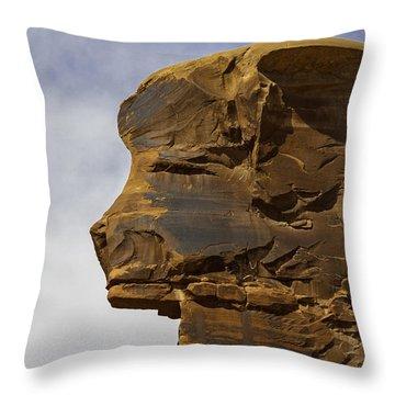 Pharaoh Throw Pillow by Elizabeth Eldridge