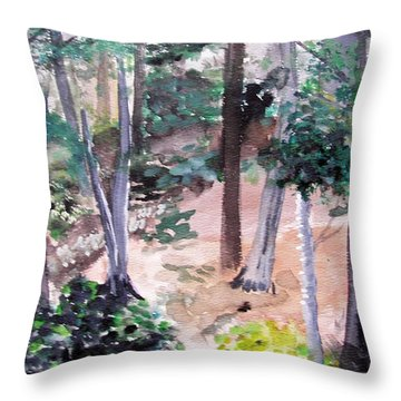 Plein Aire Durand Park Throw Pillow