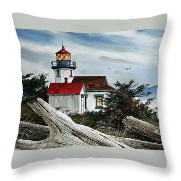 Point Robinson Lighthouse And Mt. Rainier Throw Pillow