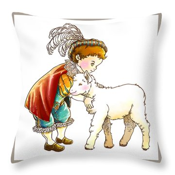 Prince Richard And His New Friend Throw Pillow