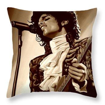 Prince The Artist Throw Pillow