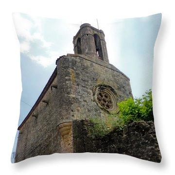 Pubol Spain Church Throw Pillow