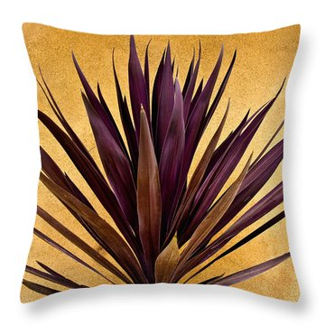 Purple Giant Dracaena Santa Fe Throw Pillow by John Hansen