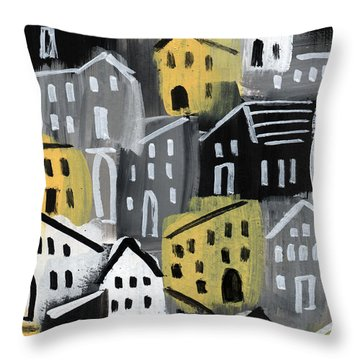 Rainy Day - Expressionist Art Throw Pillow