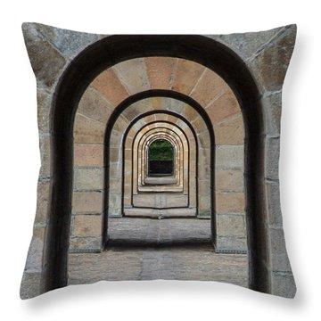 Receding Arches Throw Pillow
