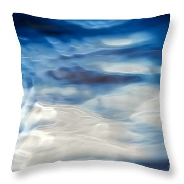 Ripples Of Blue Throw Pillow