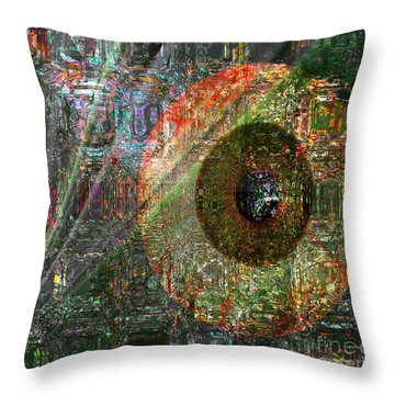 Savior Watching Over Me Throw Pillow by Fania Simon