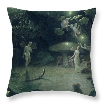 Scene From 'a Midsummer Night's Dream Throw Pillow by Francis Danby