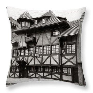 Scranton Pa Zenke's Alt Heidelberg Restaurant Early 1900s Throw Pillow