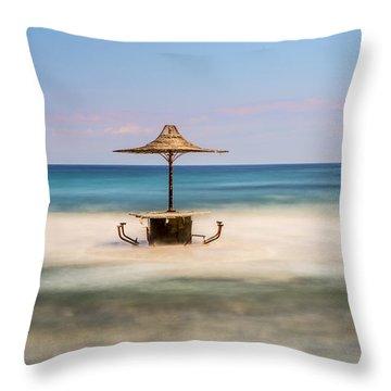 Seaside Bar Throw Pillow