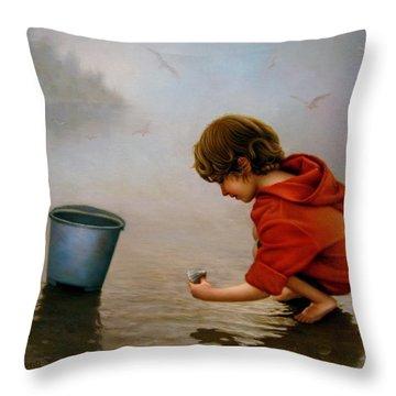 Beach Story 1 Throw Pillow