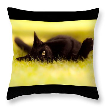' See You  Throw Pillow by Bulik Elena