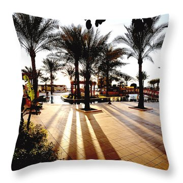 Silhouettes Throw Pillow by Marwan Khoury