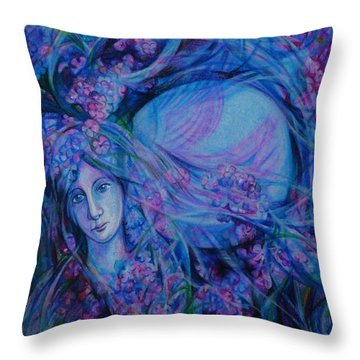 Song Of Lilac Throw Pillow by Anna  Duyunova
